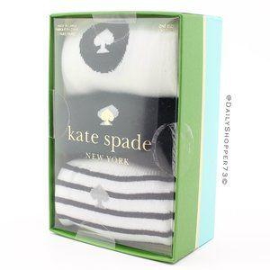 Kate Spade Black & White Crew Socks - Set of 3